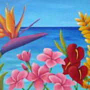 Tropical View Art Print