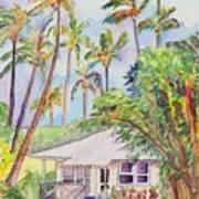 Tropical Waimea Cottage Art Print by Marionette Taboniar
