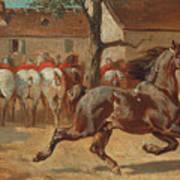 Trotting A Horse Art Print