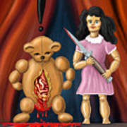 Trouble In Toyland Art Print by David Kyte