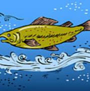 Trout Fish Swimming Underwater Print by Aloysius Patrimonio