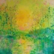 Trees In Sunset Art Print