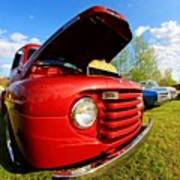 Truck Headlight Art Print