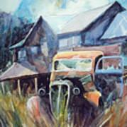 Truck in the Tall Grass Art Print
