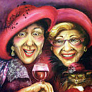 Trudy And Grace Play Dressup Art Print