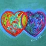 True Blue Hearts Art Print