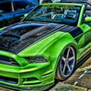 Truefiber Mustang Art Print