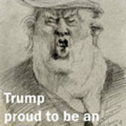 Trump The Imbecile Art Print