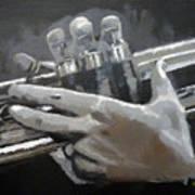 Trumpet Hands Art Print