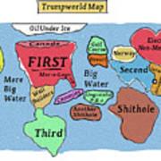 Trumpworld Map Art Print