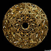 Truncated Hyper Dodecahedron Art Print