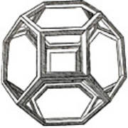 Truncated Octahedron With Open Faces Art Print