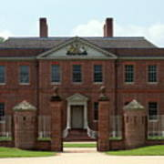 Tryon Palace Front With Gaurd Posts Art Print