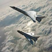 Tsr.2 Advanced Bomber And Lightning Interceptor Art Print
