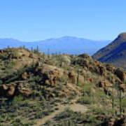 Tucson Mountain Ranges Art Print