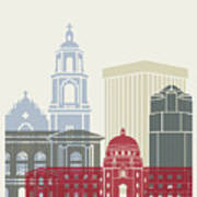 Tucson Skyline Poster Art Print