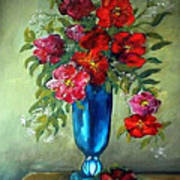 Tueday Afternoon He Brought Flowers Art Print