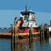 Tug Indian River At Port Canaveral In Florida Usa Art Print