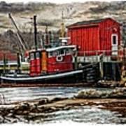 Tug On Ice 2fa Art Print