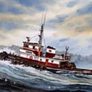 Tugboat Earnest Art Print