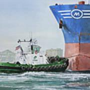 Tugboat Leo Foss Art Print