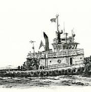 Tugboat Shelley Foss Art Print