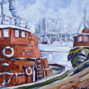 Tugs In Harbour Art Print
