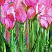 Tulip Bloomies 1 - Pink Art Print