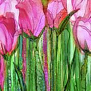 Tulip Bloomies 2 - Pink Art Print