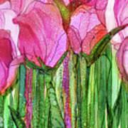 Tulip Bloomies 3 - Pink Art Print