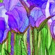 Tulip Bloomies 3 - Purple Art Print