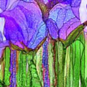 Tulip Bloomies 4 - Purple Art Print