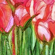 Tulip Bloomies 4 - Red Art Print