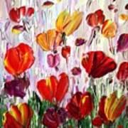 Tulips Flowers Garden Seria Art Print