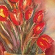 Tulips For David Art Print