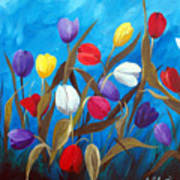 Tulips Galore II Art Print