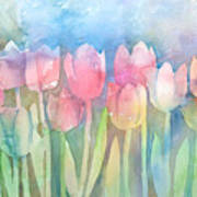 Tulips In A Row Art Print