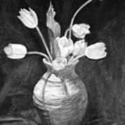 Tulips In A Vase Art Print