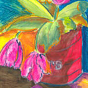 Tulips In Can Art Print