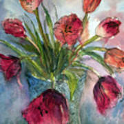 Tulips In Rosie's Vase Art Print
