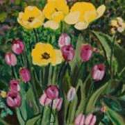 Tulips In The Capitol 2 Art Print
