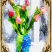 Tulips On A Half Shelf Art Print