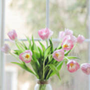 Tulips On The Window Art Print