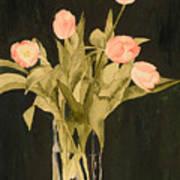 Tulips On Velvet Art Print