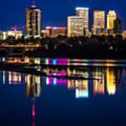 Tulsa Skyline At Twilight Art Print by Tamyra Ayles
