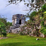 Tulum Watchtower Art Print