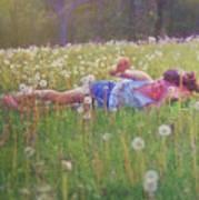 Tumble In The Grass Art Print