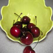 Tumbling Cherries Art Print