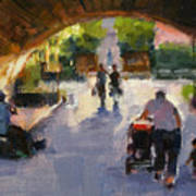 Tunnel In Central Park Art Print