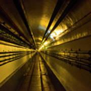 Tunnel In Schoenenbourg Fort, France Art Print